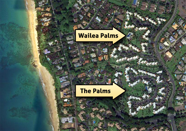The Palms at Wailea is South and Wailea Palms is North.