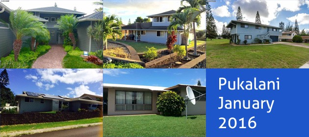 pukalani home sales in january 2016